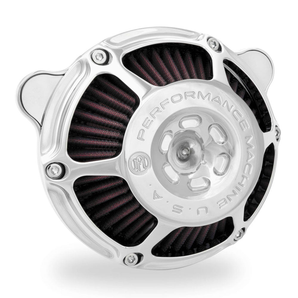 Performance Machine 0206-2078-CH Chrome Max HP Air Cleaner for Harley Davidson Twin Cam/Evo