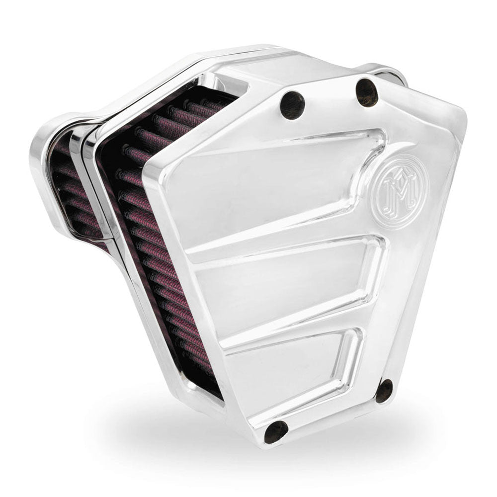 Performance Machine 0206-2083-CH Chrome Scallop Air Cleaner for Harley Davidson Big Twin/Evo