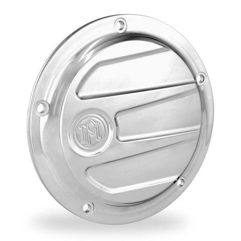 Performance Machine 0177-2026-CH Chrome Scallop 5-H Derby Cover