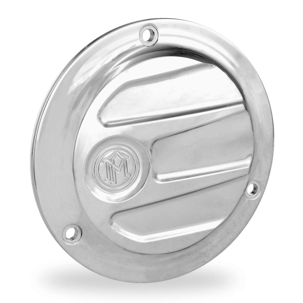 Performance Machine 0177-2027-CH Chrome Scallop 3-H Derby Cover