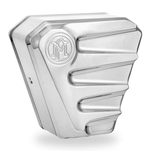 Performance Machine 0218-2001SCA-CH Chrome Scallop Horn Cover