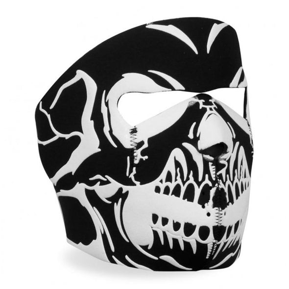 Hot Leathers Black/White Skull Full Face Mask