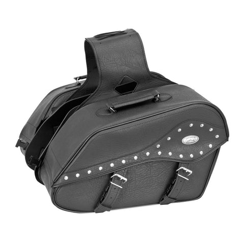 River Road 107722 Quantum Series Windswept Large Studded Saddlebags