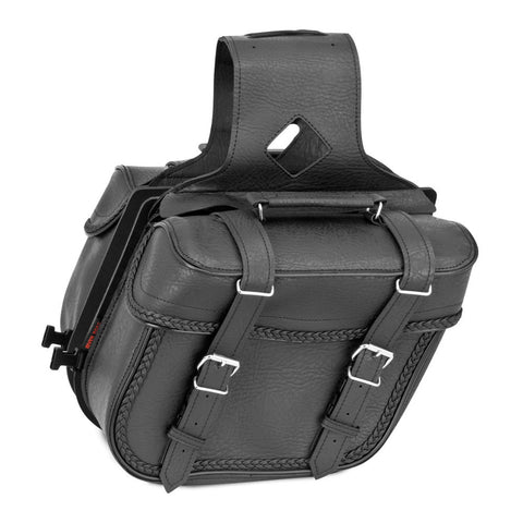 River Road 107725 Quantum Series Compact Slant Braided Saddlebags