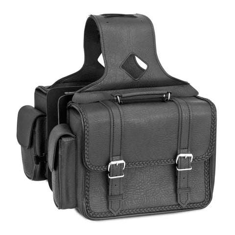 River Road 107727 Quantum Series Compact Box Braided Saddlebags