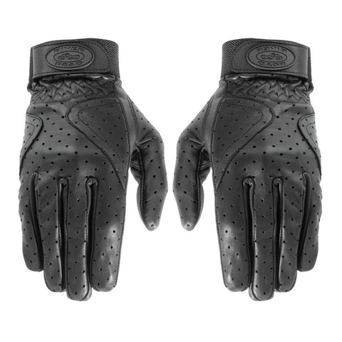 River Road 10/G/2987L Mesa Perforated Leather Gloves - Black