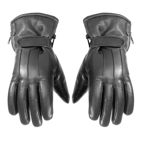 River Road Taos Cold Weather Leather Gloves - Black