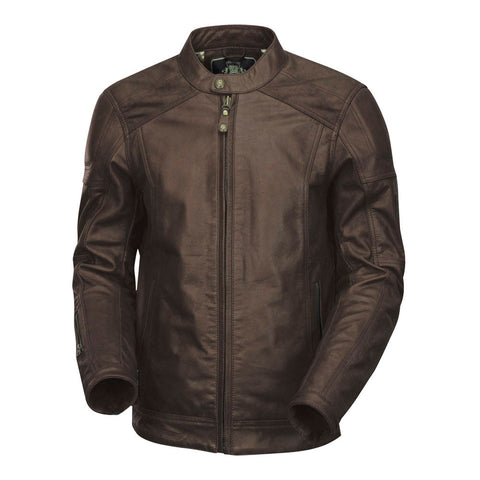 Roland Sands Carson Leather Jacket (Brown)
