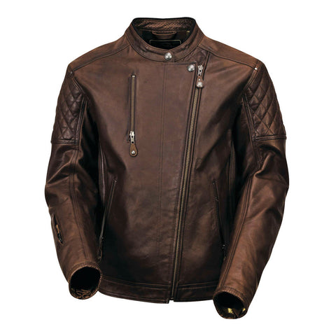 Roland Sands Clash Leather Jacket (Tobacco)