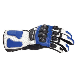 Bilt Circuit Racer Motorcycle Gloves (XL) - Blue, White, Black