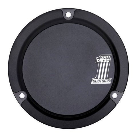 San Diego Customs P-DCE003BLK Number 1 Derby Cover (Black) for Evo