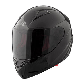 Speed & Strength 876891 SS1500 Solid Speed Full Face Helmet - Gloss-Black (LG)