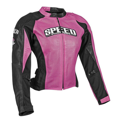 Speed & Strength Throttle Body Leather Jacket - Pink (SM)