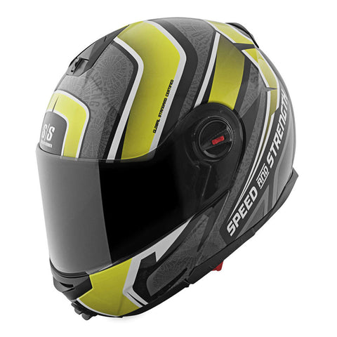 Speed & Strength 878771 Lock & Load SS1700 Modular Helmet - Gloss-Hi-Viz