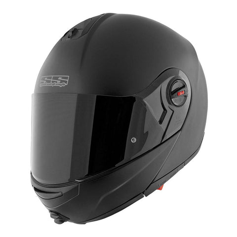 Speed & Strength 876461 Solid Speed SS1700 Modular Helmet - Matte-Black