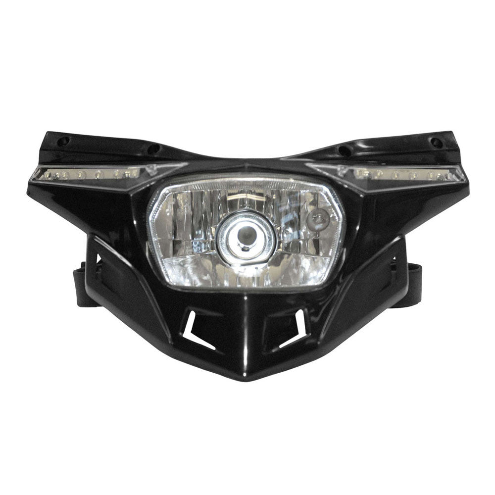 UFO Plastics PF01715-001 Black Stealth Headlight Kit