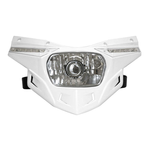 UFO Plastics PF01715-041 White Stealth Headlight Kit