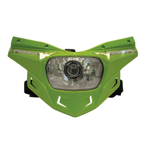 UFO Plastics PF01715-026 Green Stealth Headlight Kit