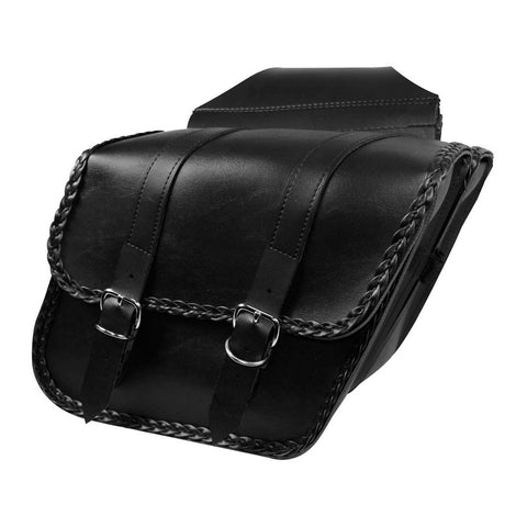 Willie & Max 58707-20 Braided Compact Slant Saddlebags