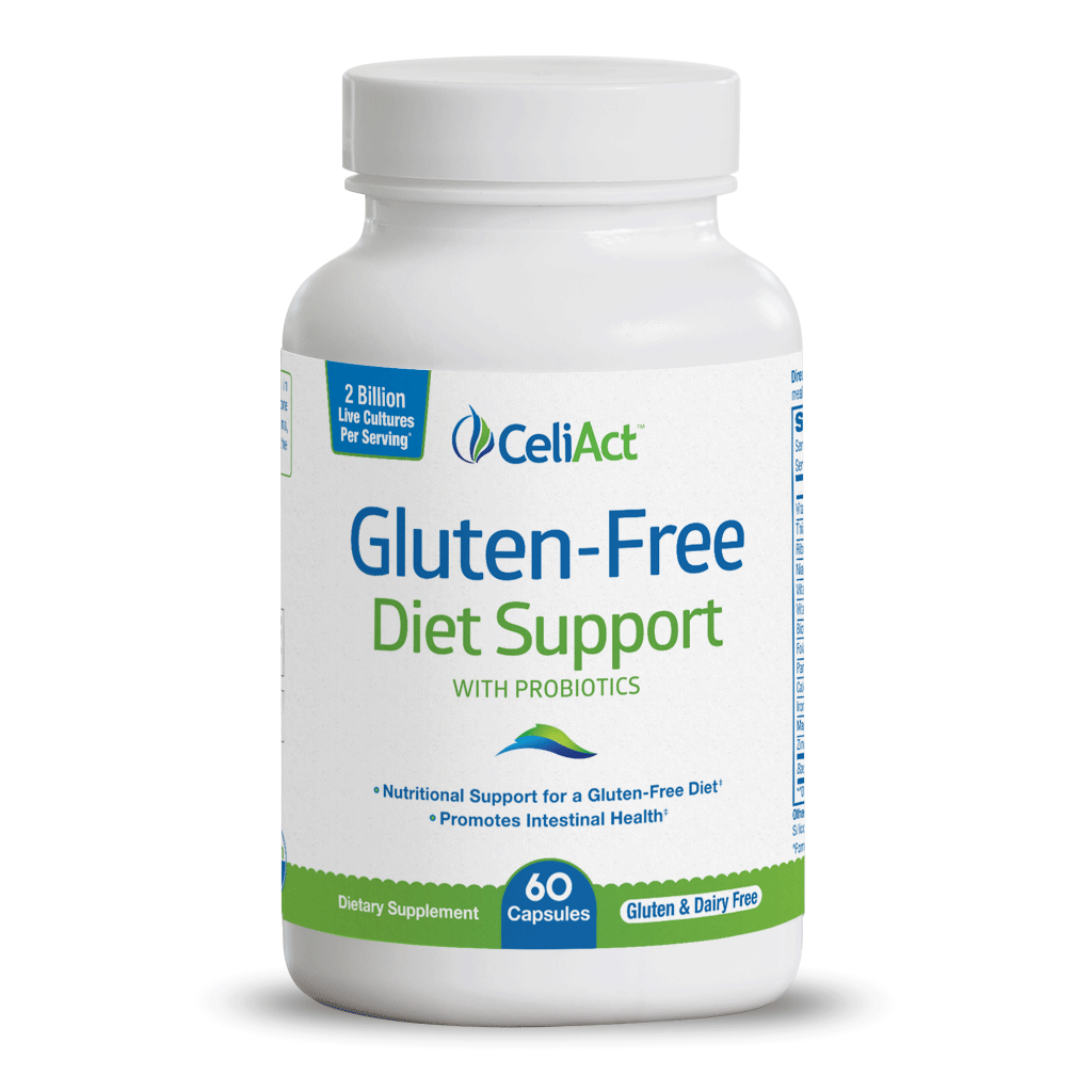 Gluten-Free Diet Support Bottle Image