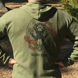 Tao of Trailing Wolf Skull Hoody