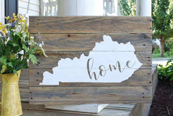 FREE SHIPPING!!!   Kentucky Home pallet sign  I   Kentucky  I   Kentucky home  I  Home sign  I  Home decor