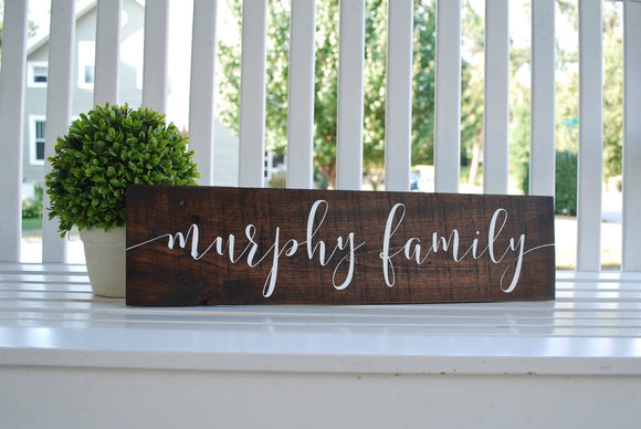 FREE U.S. SHIPPING!!!  Family wood sign  I   wedding gift idea  I   family sign