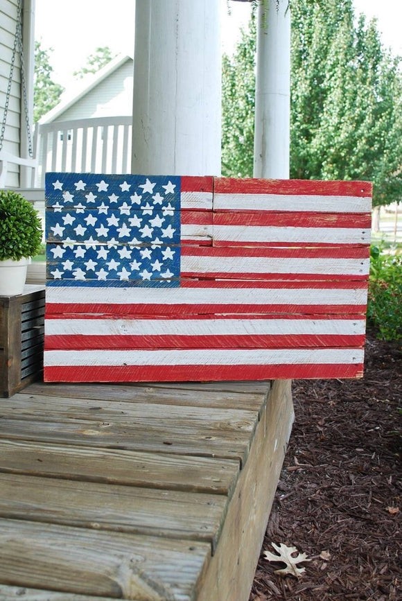FREE SHIPPING!!!   American flag pallet  I  America  I  Americana decor  I  Americana  I  American flag