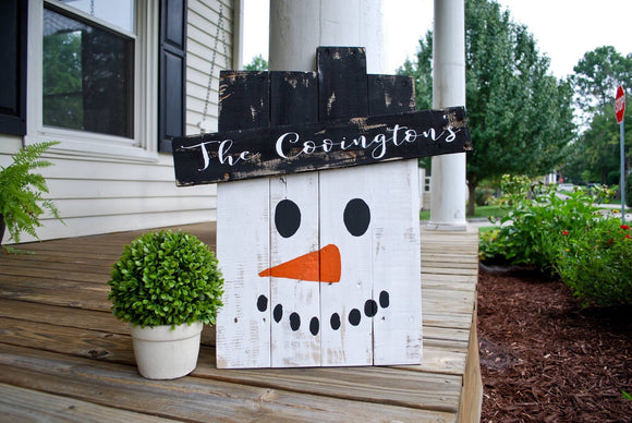 FREE SHIPPING!!!!   Pallet snowman  I  Snowman decor  I  rustic snowman  I  Winter decor
