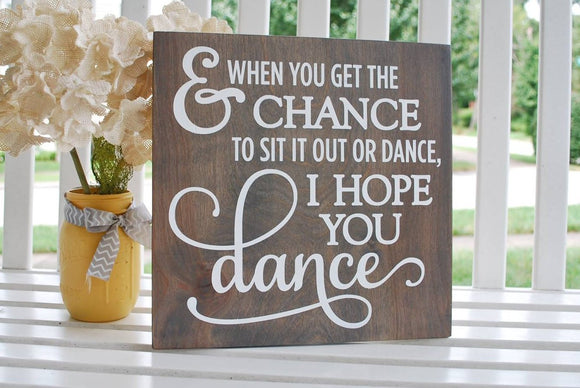 Dance wood sign  I  Nursery room sign  I  Wedding sign