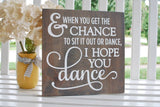 FREE SHIPPING!!!  Dance wood sign  I  Nursery room sign  I  Wedding sign  I  Recital gift