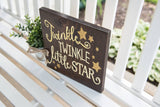 FREE SHIPPING!!!   Twinkle Twinkle Little Star wood sign  I  Nursery decor  I  nursery sign  I  Star nursery