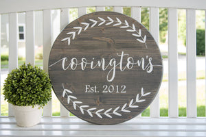 FREE U.S. SHIPPING!!!   Established wood sign  I  Name sign  I  wedding gift