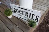FREE U.S. SHIPPING!!!  Rustic Groceries pallet sign  I  Groceries sign  I  dry goods
