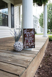 FREE U.S. SHIPPING!!!  Though she be but little she is fierce wood sign  I  Fierce sign