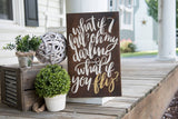 FREE SHIPPING!!!   What if I fall wood sign  I  Nursery sign  I  Nursery decor  I  graduation gift  I  graduation