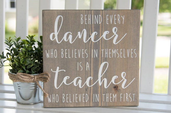 FREE U.S. SHIPPING!!!  Dance wood sign  I  Dance teacher gift  I  Dance sign