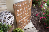 You're off to great places sign  I    Nursery sign  I  Going away gift  I   graduation  I  grad gift idea