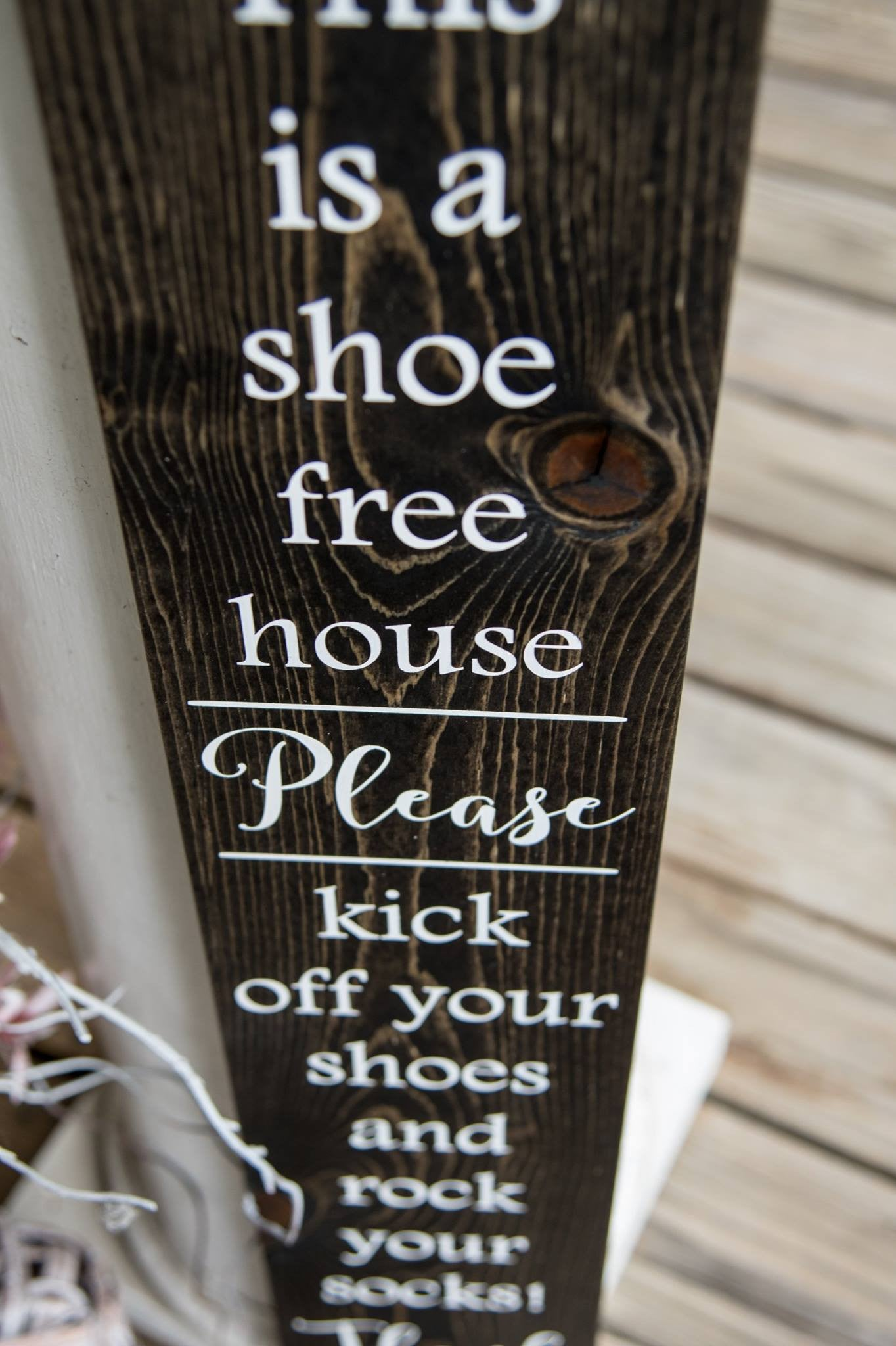 graphic relating to Please Remove Your Shoes Sign Printable Free named Free of charge Shipping and delivery!!! Rock your socks wooden indication I No sneakers I
