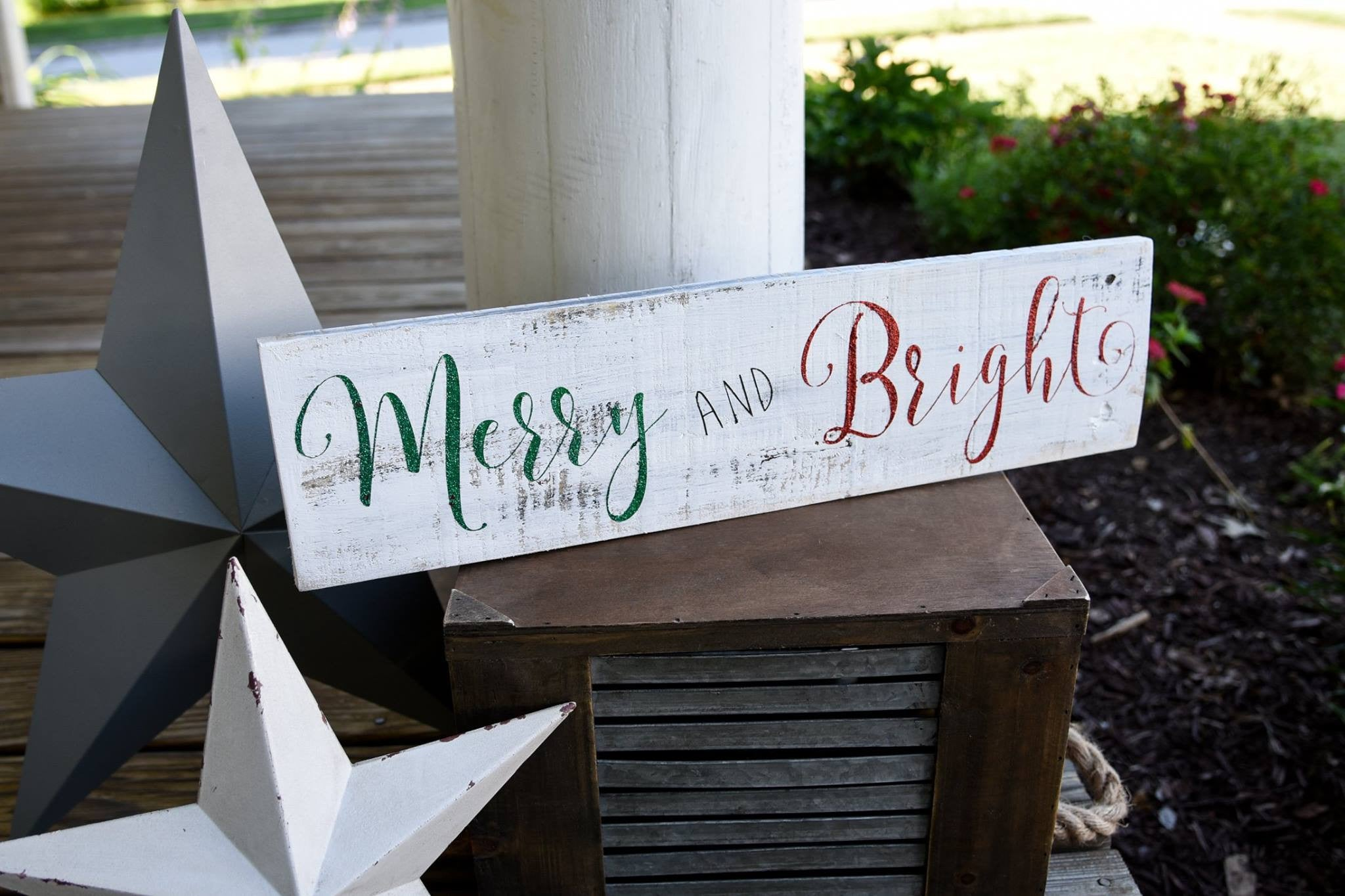 merry and bright pallet sign i christmas signs i christmas i christmas decor - Christmas Decor Signs