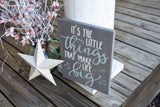 It's the little things that make life big wood sign I Its the little things  I  baby shower gift