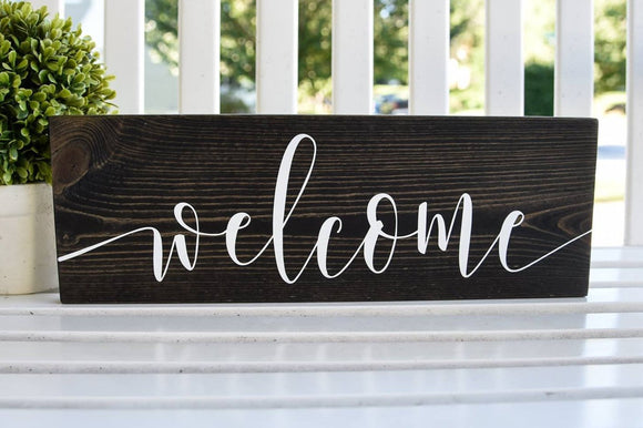 FREE SHIPPING!!!  Welcome wood sign  I  Welcome sign  I  housewarming gift  I  wedding sign