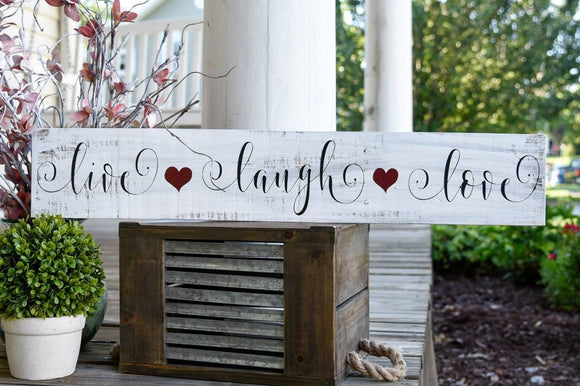 FREE SHIPPING!!!  Live Laugh Love pallet sign  I  Live  I  Laugh  I  Love I  wood signs