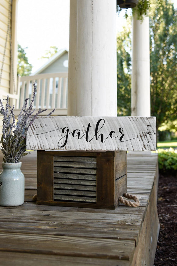Gather pallet sign  I  Thanksgiving I  Gather  I  Gather sign  I  pallet sign