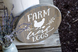 FREE SHIPPING!!!   Farm Fresh Eggs wood sign  I  Kitchen decor  I  kitchen sign  I  farm fresh  I  eggs