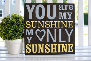 FREE U.S. SHIPPING!!!   You are my sunshine wood sign  I  Nursery sign