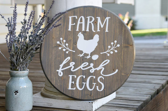 FREE U.S. SHIPPING!!!   Farm Fresh Eggs wood sign  I  Kitchen decor  I  kitchen sign