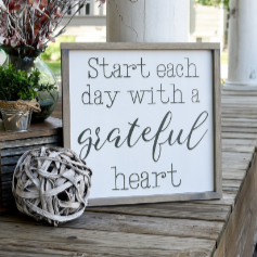 FREE SHIPPING!!!  Start each day with a grateful heart wood sign  I  Motivational sign  I  Motivation  I  Bathroom sign  I  Bathroom decor  I  Bathroom