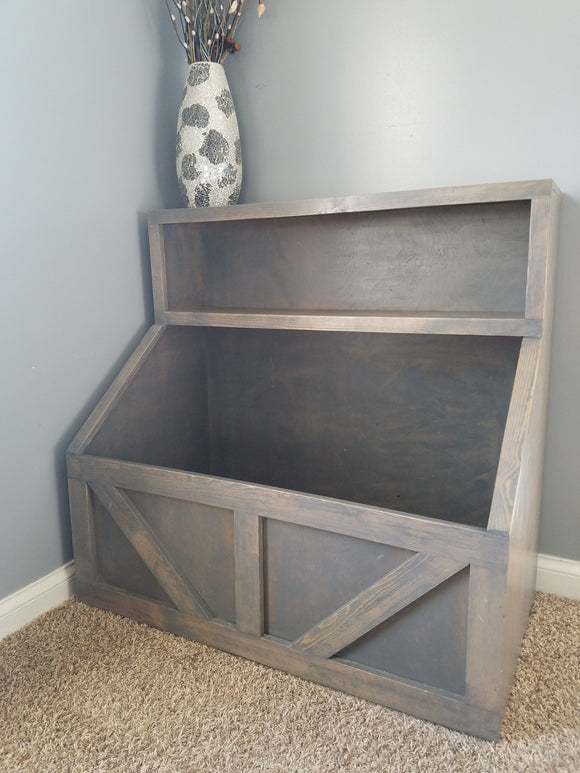 FREE U.S. SHIPPING!!!   Wood toy chest  I Wood storage I toy storage  I  wood toy bin storage