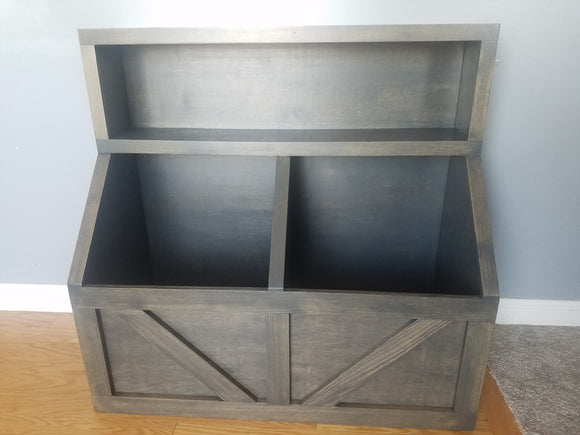 Wood toy chest  I Wood storage I toy storage  I  wood toy bin storage  I  farmhouse toy bin
